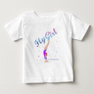 Camiseta Para Bebê Ginástica - T da menina da mosca
