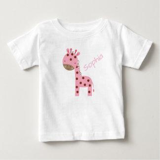 Camiseta Para Bebê Girafa