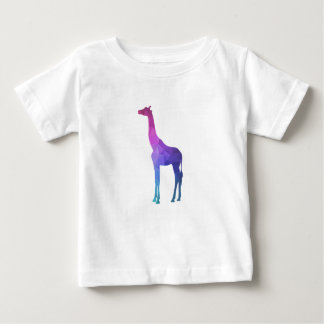 Camiseta Para Bebê Girafa geométrico com ideia vibrante do presente