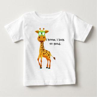 Camiseta Para Bebê girafa no estilo com vidros para o bebê