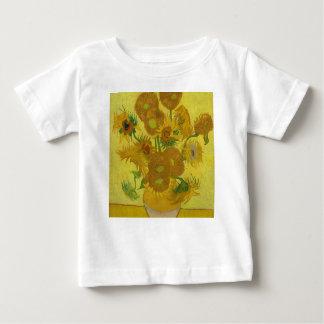 Camiseta Para Bebê Girassóis de Vincent van Gogh - arte clássica