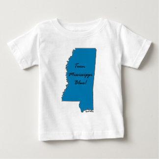 Camiseta Para Bebê Gire Mississippi azul! Orgulho Democrática!