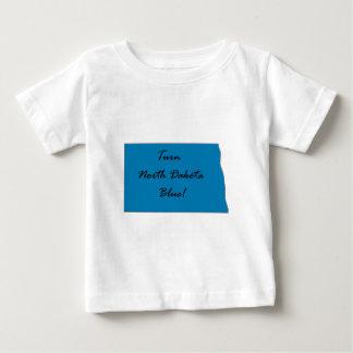 Camiseta Para Bebê Gire North Dakota azul! Orgulho Democrática!