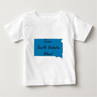 Camiseta Para Bebê Gire South Dakota azul! Orgulho Democrática!