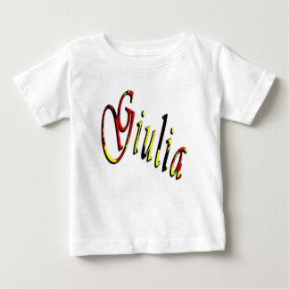 Camiseta Para Bebê Giulia, nome, logotipo, t-shirt do branco dos
