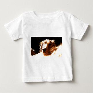 Camiseta Para Bebê Golden retriever na luz solar