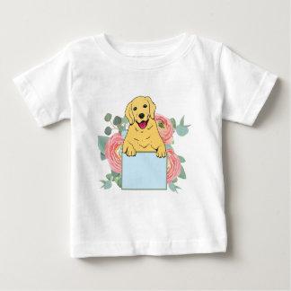 Camiseta Para Bebê Golden retriever que guardara o sinal
