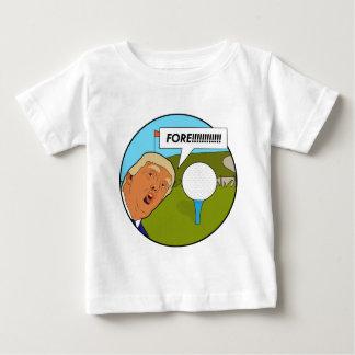 Camiseta Para Bebê Golfe de Donald Trump