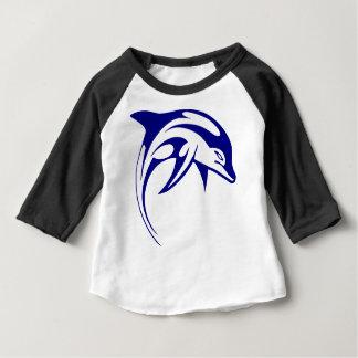 Camiseta Para Bebê Golfinho azul