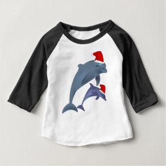 Camiseta Para Bebê Golfinho do Natal