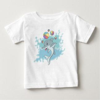 Camiseta Para Bebê Golfinho feliz