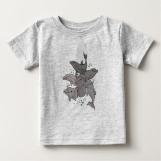 Camiseta Para Bebê Golfinhos brincalhão