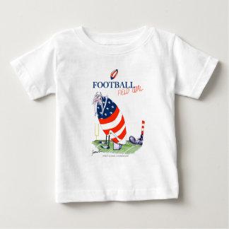 Camiseta Para Bebê Golo de campo do futebol, fernandes tony