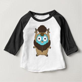 Camiseta Para Bebê Gopher do búfalo