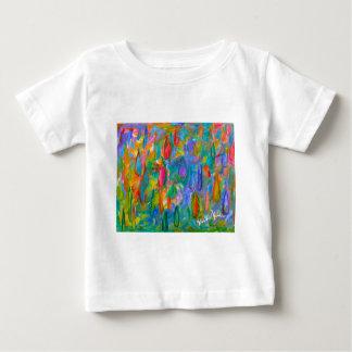 Camiseta Para Bebê Gotas da cor