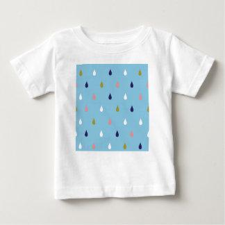 Camiseta Para Bebê Gotas felizes da chuva
