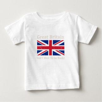 Camiseta Para Bebê Grâ Bretanha - eu quero ir para trás!