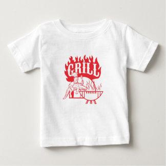 Camiseta Para Bebê Grade do jacaré do carregar do cozinheiro chefe do