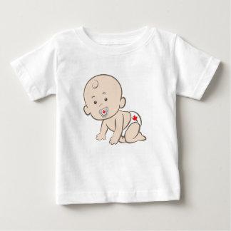 Camiseta Para Bebê Gráfico de rastejamento do bebê de Canadá
