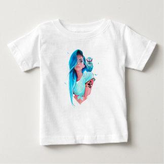Camiseta Para Bebê gráfico de vista legal do design da menina do