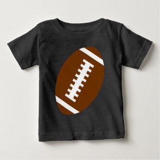 Camiseta Para Bebê Gráfico dianteiro do futebol do preto | do BEBÊ do