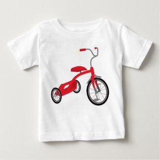 Camiseta Para Bebê Gráfico vermelho do triciclo