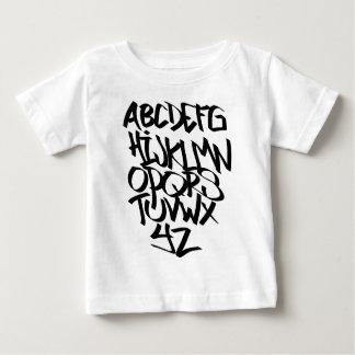 Camiseta Para Bebê grafites do alfabeto
