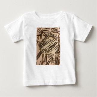 Camiseta Para Bebê Grampos de papel para a pessoa de papel