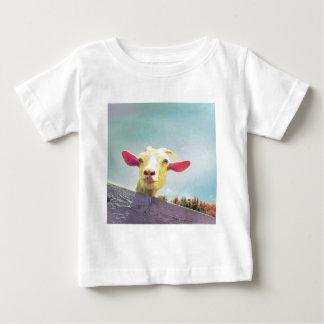 Camiseta Para Bebê Grande de tudo cabra orelhuda cor-de-rosa do tempo