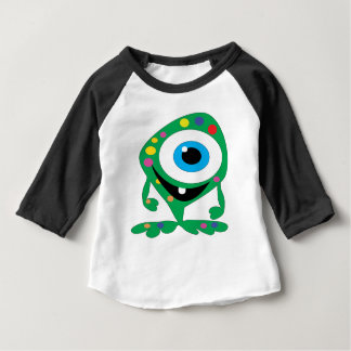 Camiseta Para Bebê Greendot-Monstro