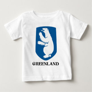 Camiseta Para Bebê GREENLAND - emblema/símbolo/brasão/bandeira