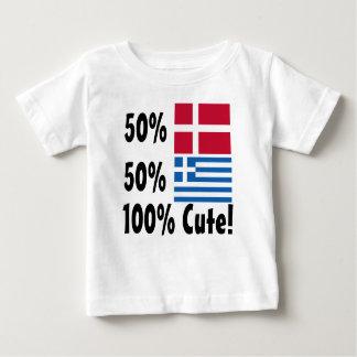 Camiseta Para Bebê Grego 100% do dinamarquês 50% de 50% bonito