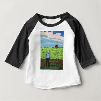 Camiseta Para Bebê Griff e o celeiro vermelho