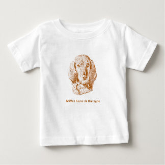 Camiseta Para Bebê Griffon Fauve de Bretagne