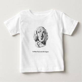 Camiseta Para Bebê Griffon Fauve de Bretagne Desenho