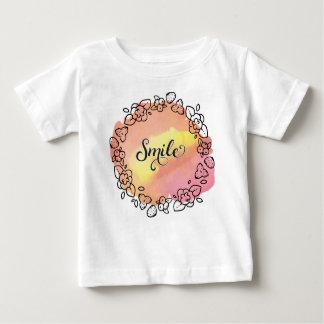 Camiseta Para Bebê Grinalda da flor do sorriso