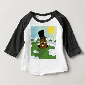 Camiseta Para Bebê Groundhog