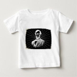 Camiseta Para Bebê grunge Abraham Lincoln