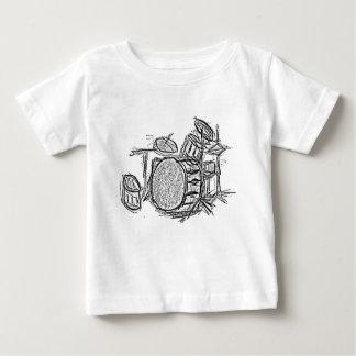 Camiseta Para Bebê Grunge do grupo de rock do jogo do cilindro