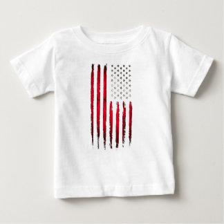 Camiseta Para Bebê Grunge do vermelho da bandeira americana