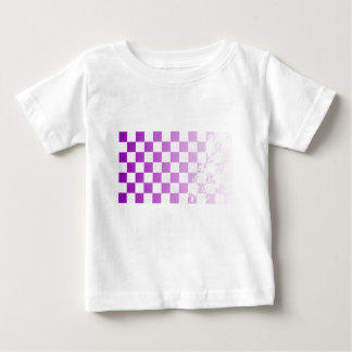 Camiseta Para Bebê Grunge roxo Chequered