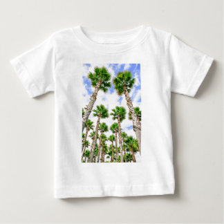 Camiseta Para Bebê Grupo de palmeiras retas altas