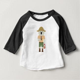 Camiseta Para Bebê guarda florestal do koala com chapéu Zgvje