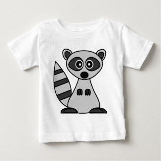 Camiseta Para Bebê Guaxinim bonito dos desenhos animados