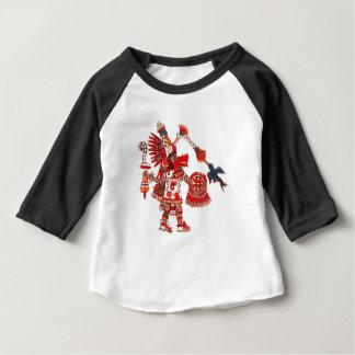 Camiseta Para Bebê Guerreiro asteca do shaman da dança