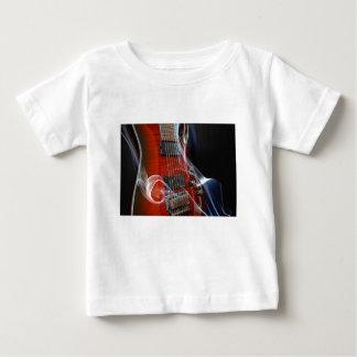 Camiseta Para Bebê Guitarra da Sete-Corda das cordas da guitarra oito