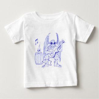 Camiseta Para Bebê Guitarra de Cthulhu
