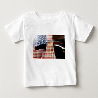 Camiseta Para Bebê Guitarra elétrica da guitarra da bandeira dos EUA