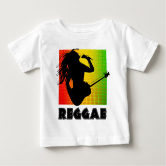 Camiseta Para Bebê Guitarra legal da música de Rasta da reggae que