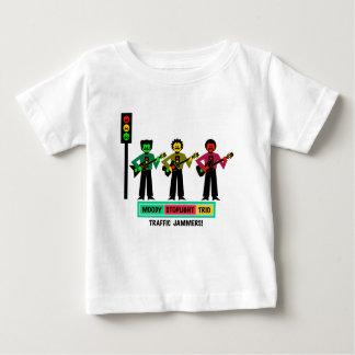 Camiseta Para Bebê Guitarristas temperamentais 2 do Mustachio do trio